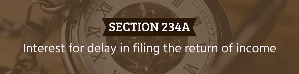 Interest for delay in filing the return of income