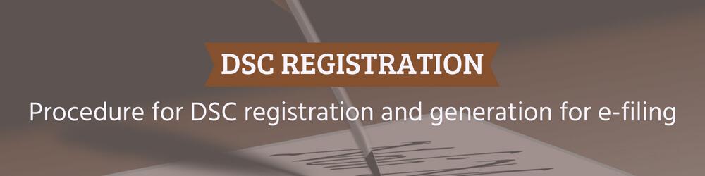 Procedure for digital signature registration and generation