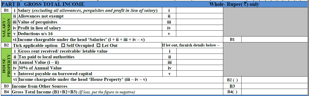 How to fill ITR-1 form 2