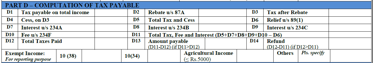 How to fill ITR-1 form 4