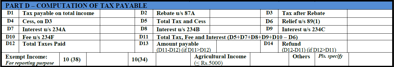 How to fill ITR-1 form details 4