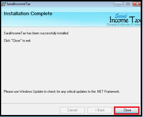 Software Installation guide for Saral IncomeTaxSaral TaxOffice 10