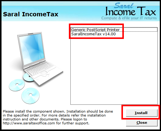 Software Installation guide for Saral IncomeTaxSaral TaxOffice 4