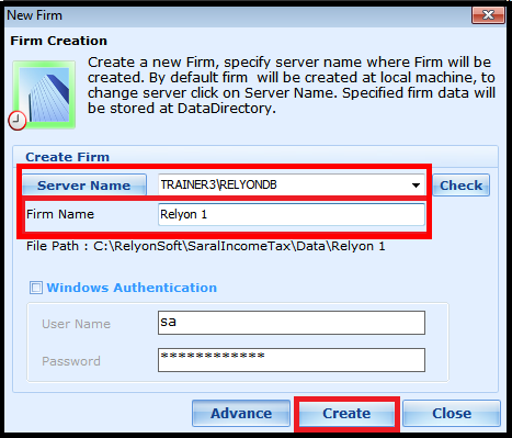 Steps for file Creation in Saral Income Tax software 2