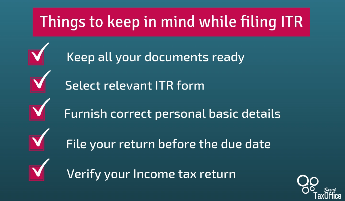 Important things to keep in mind while filing ITR