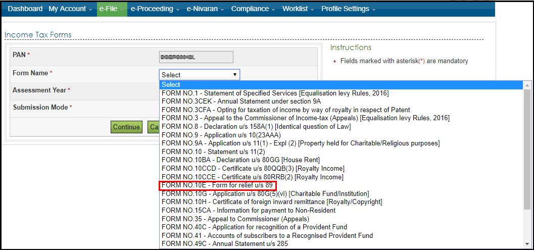 form 10e complete filing process 4