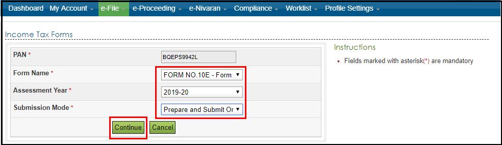 form 10e complete filing process 5