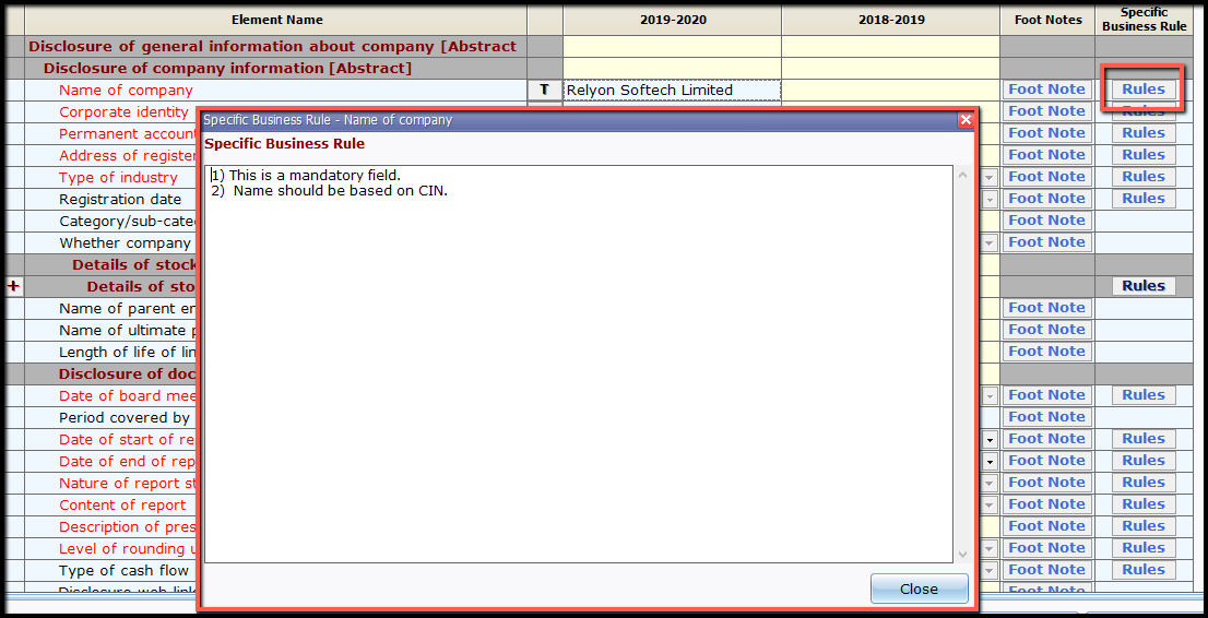 12.New file and company creation- specific business rule
