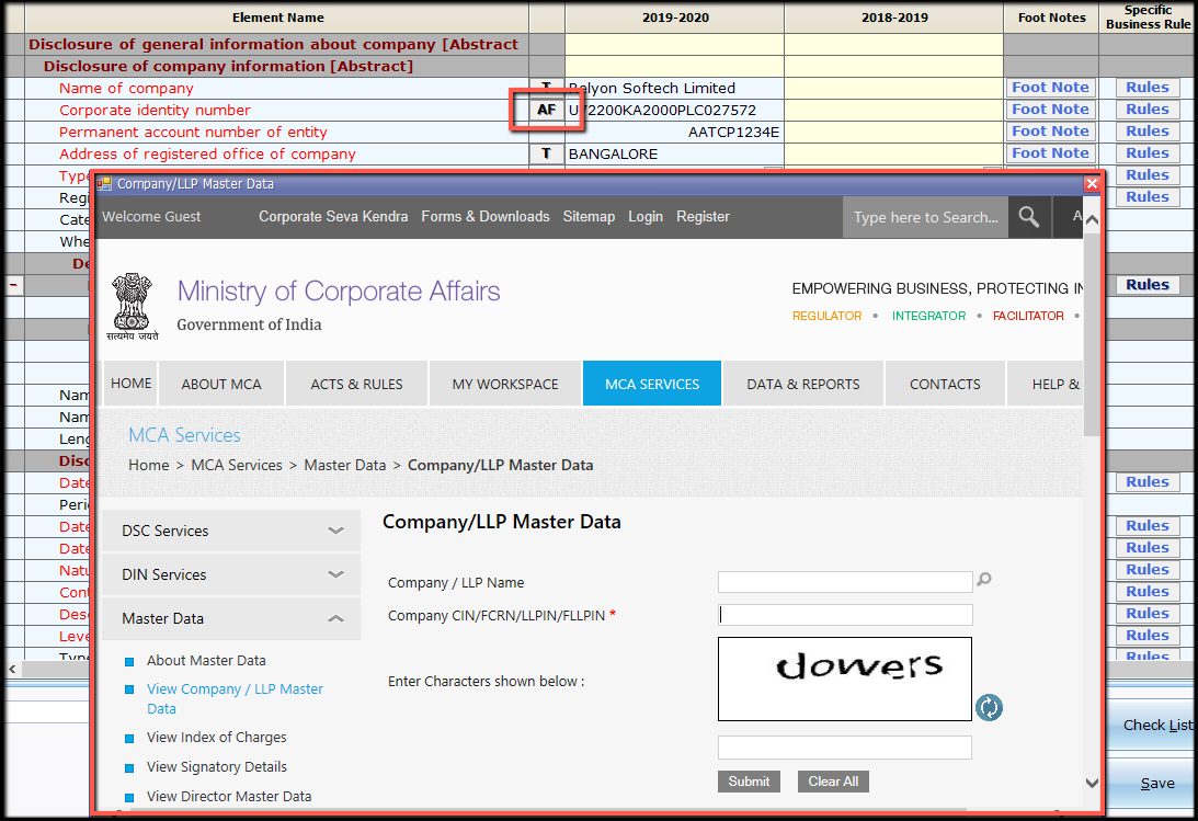 8.New file and company creation- auto fetch